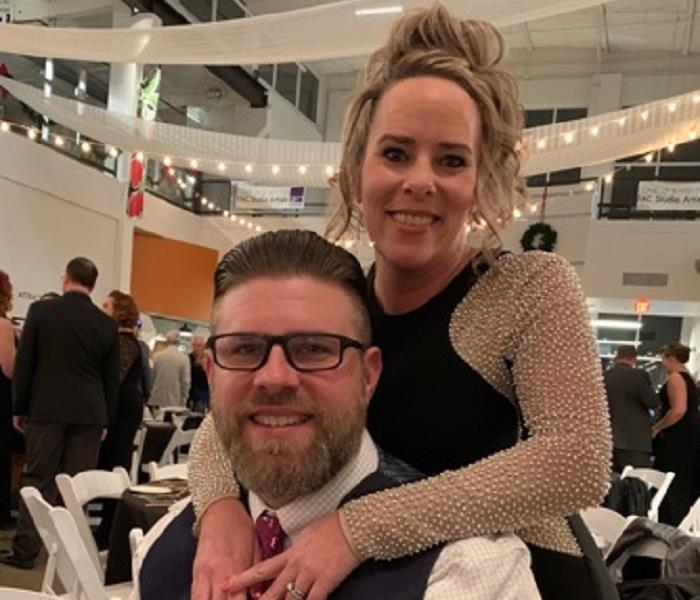 Greg and Joanne all dressed up at the Brrr Bash 2019